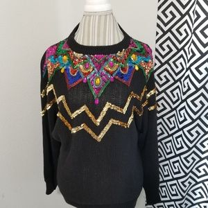 Vintage | 80's Sequined Sweater